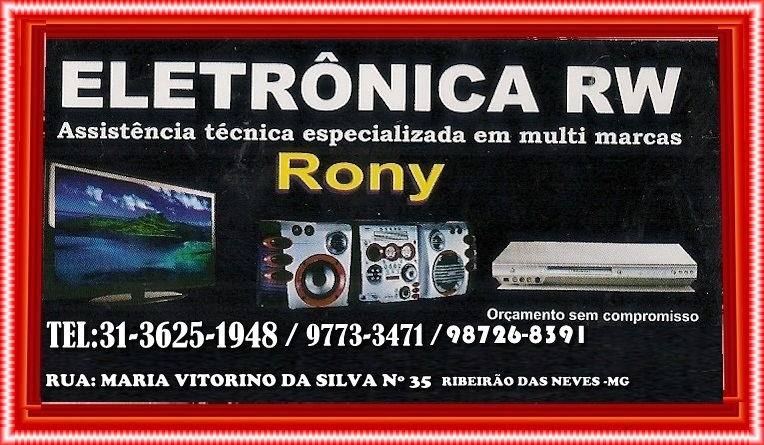 ELETRONICA RW RIBEIRÃO DAS NEVES MG