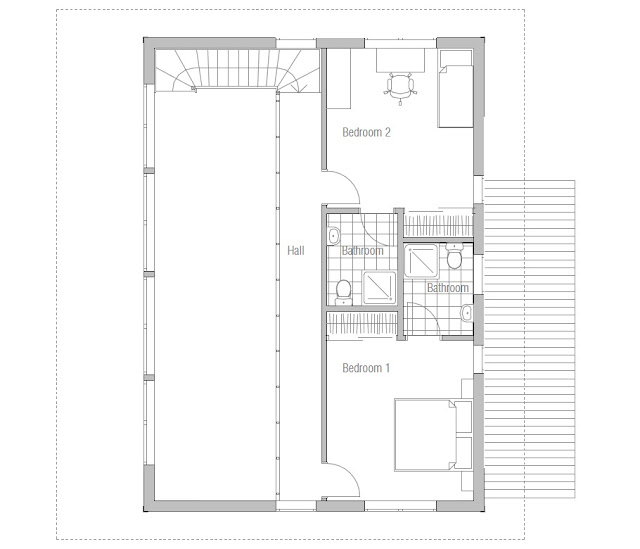 Contemporary house plans small modern house ch50 for Modern house plan 2012