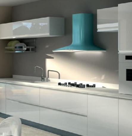 Interiores y 3d campana extractora integrada - Campana extractora integrada ...
