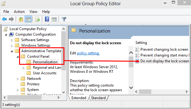How to Disable Lock Screen from Group Policy