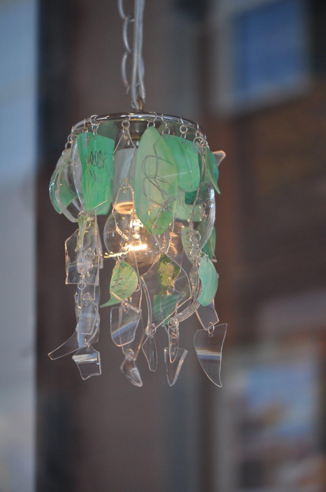 Marlis cornett fallen pendant light made from recycled glass - Recycled glass pendant lights ...