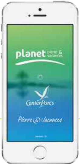 app planet pierre & vacances PV center parcs