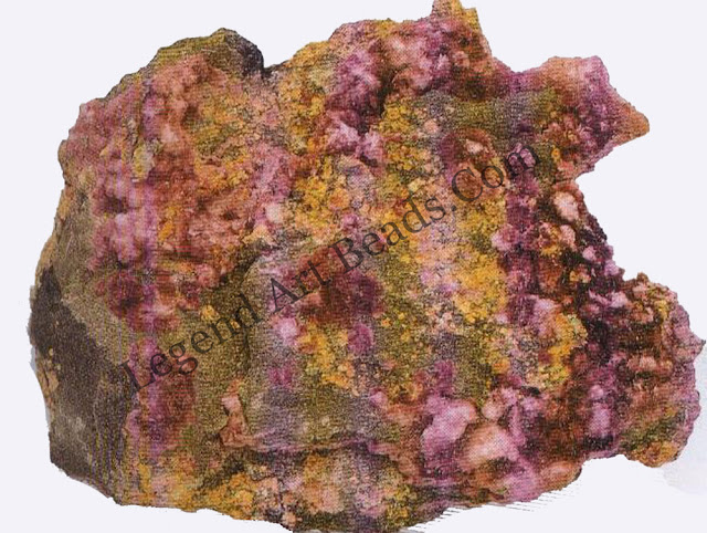 ERYTHRITE Cobalt minerals such as erythrite are usually pink or reddish. Trace amounts of cobalt may colour normally colourless minerals.