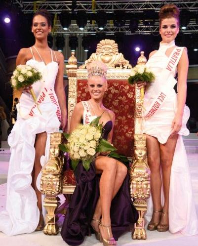 Miss Srbije Serbia 2012 winners Nikolina Bojic, Aleksandra Doknic and Ana Vrcelj