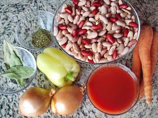 Iahnie de fasole pestrita ingrediente reteta