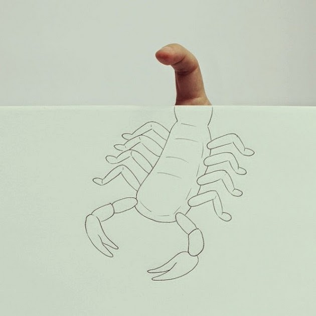 creative illusions, finger art