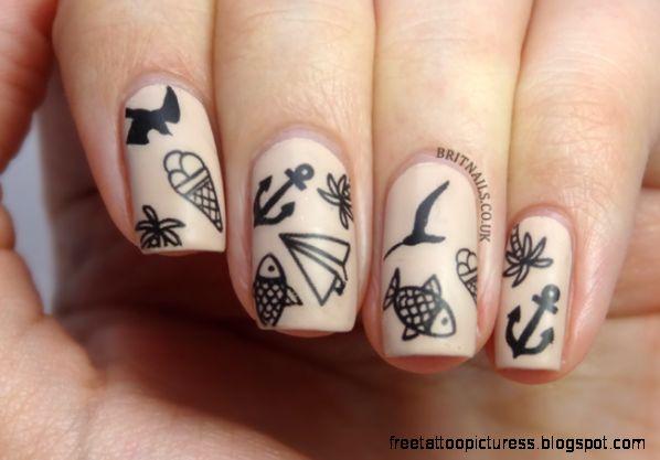 Tattoo Nail Art  Brit Nails