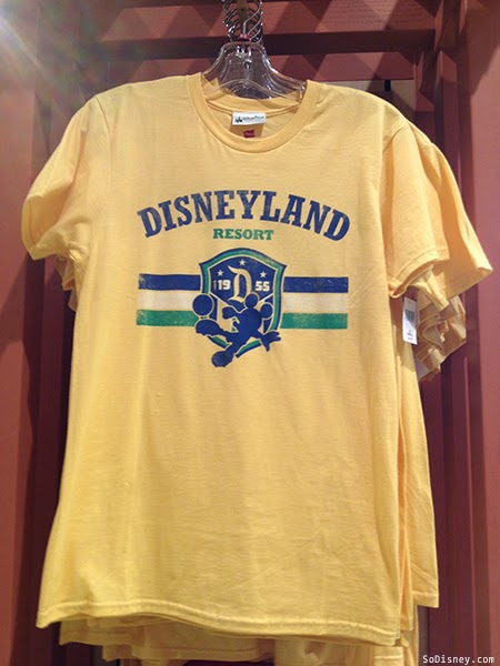 Yellow Disneyland Soccer Shirt