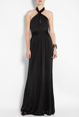 Black Halter Neck Twist Maxi Dress