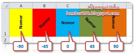 Cara Merubah Tampilan Text Secara Vertical Di Excel