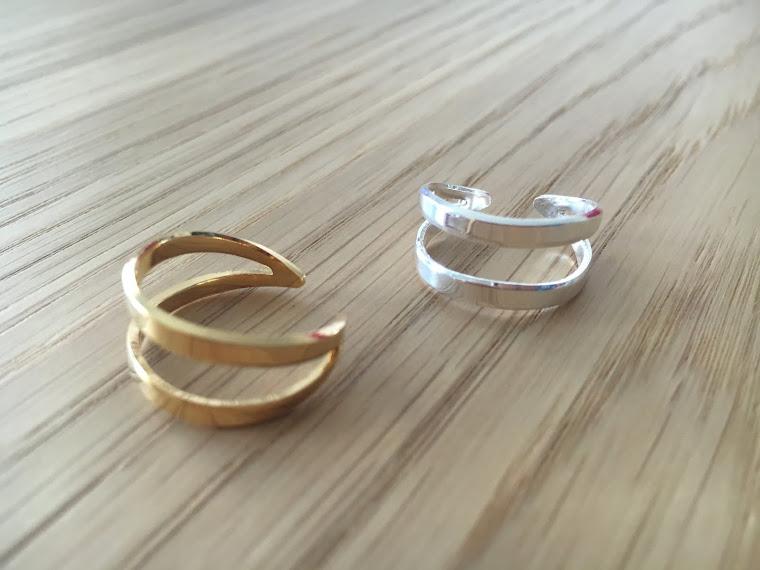 Bague jonc double collection Classique