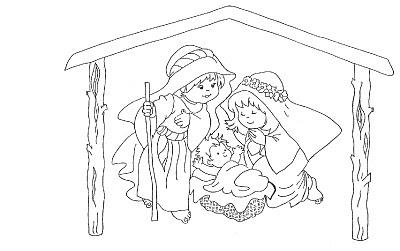 Pesebre infantil para colorear dibujos de navidad - Dibujos del portal de belen para colorear ...