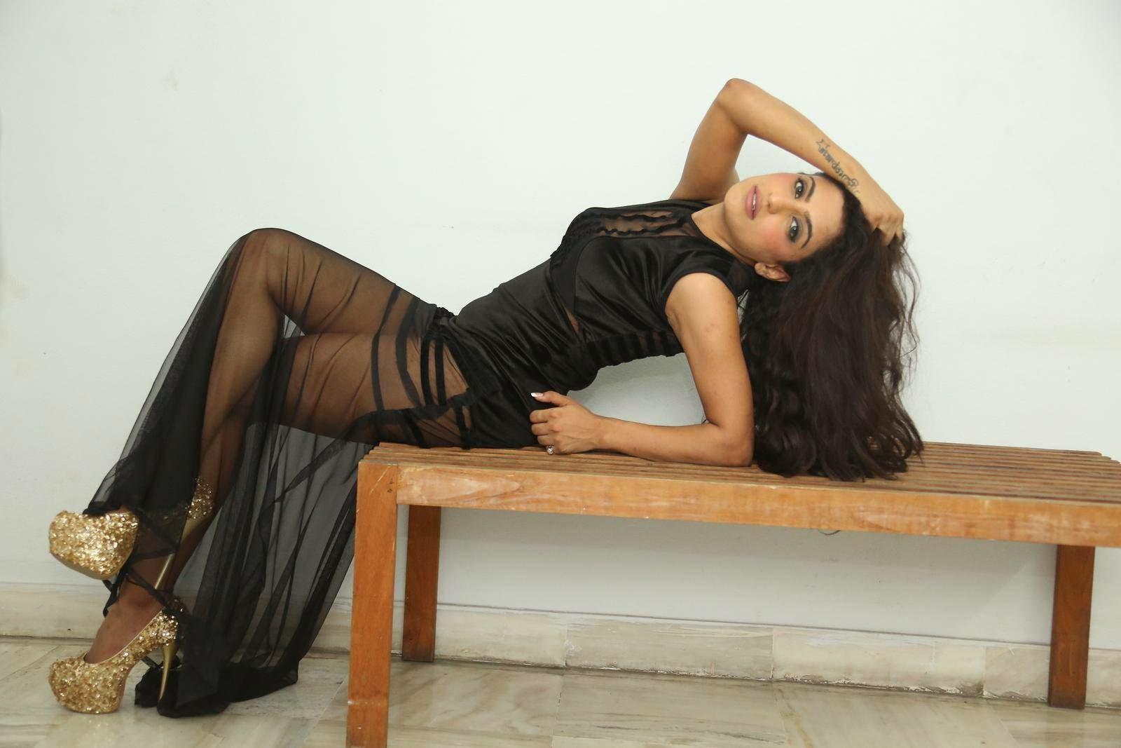 Virti Khanna In Black Spicy Dress Latest Photos