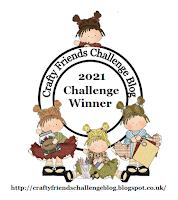 Winner at Crafty Friends Challenge
