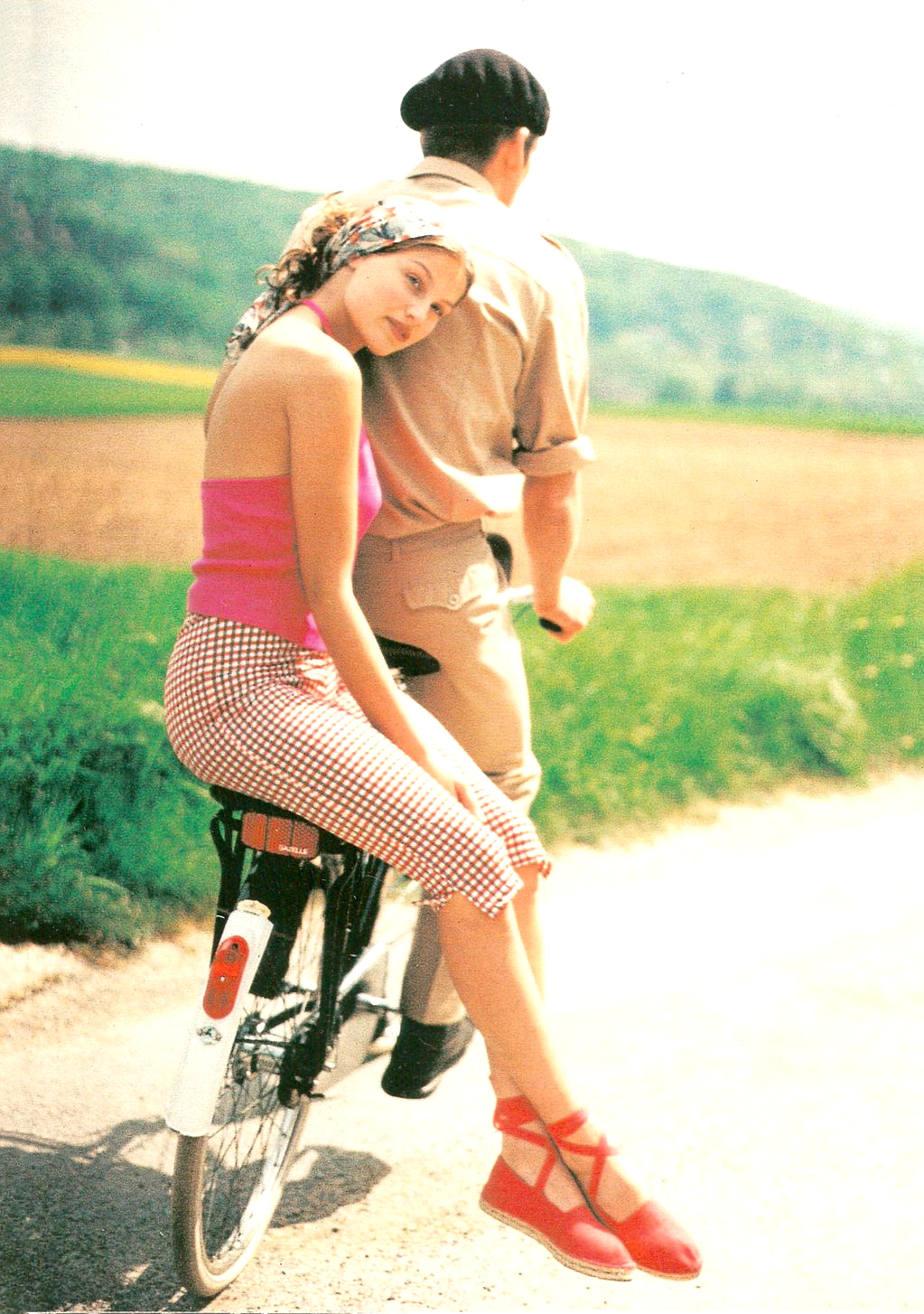 Laetitia Casta in Marie Claire France July 1995 / bicycles in Vogue, Harper's Bazaar, Marie Claire, Elle fashion editorials and campaigns / via fashioned by love british fashion blog