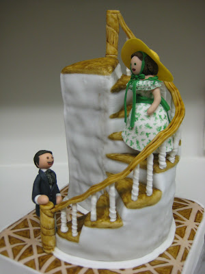 Gone With the Wind Staircase Cake with Rhett & Scarlett Figures 2