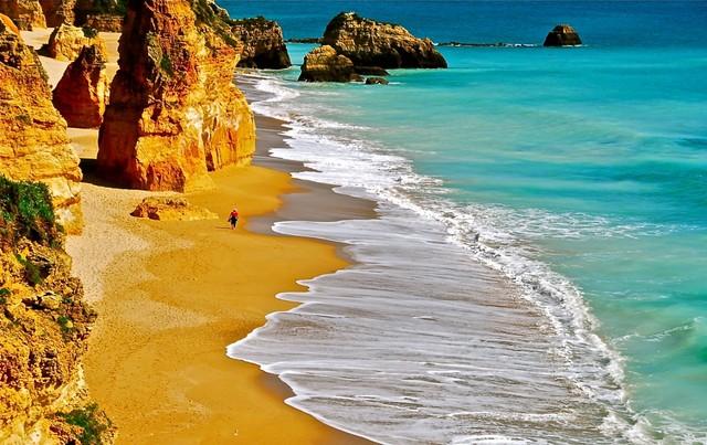 Plaża Praia da Rocha Lagos Algarve plaże Portugalia