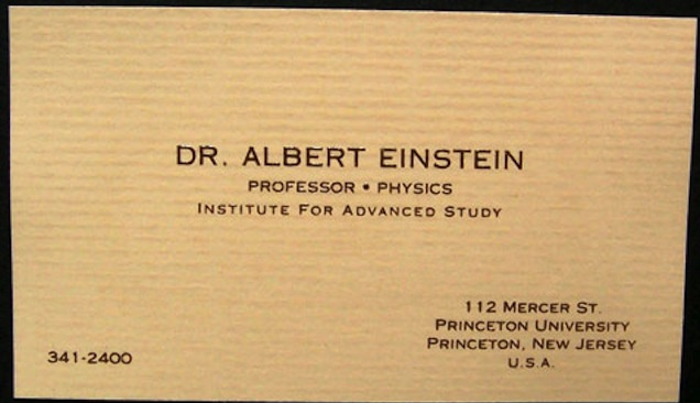 Best interview business cards collection of famous business business card of albert einstein reheart Images