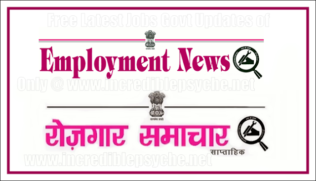 Employment news this week 2015 government govt  jobs in India