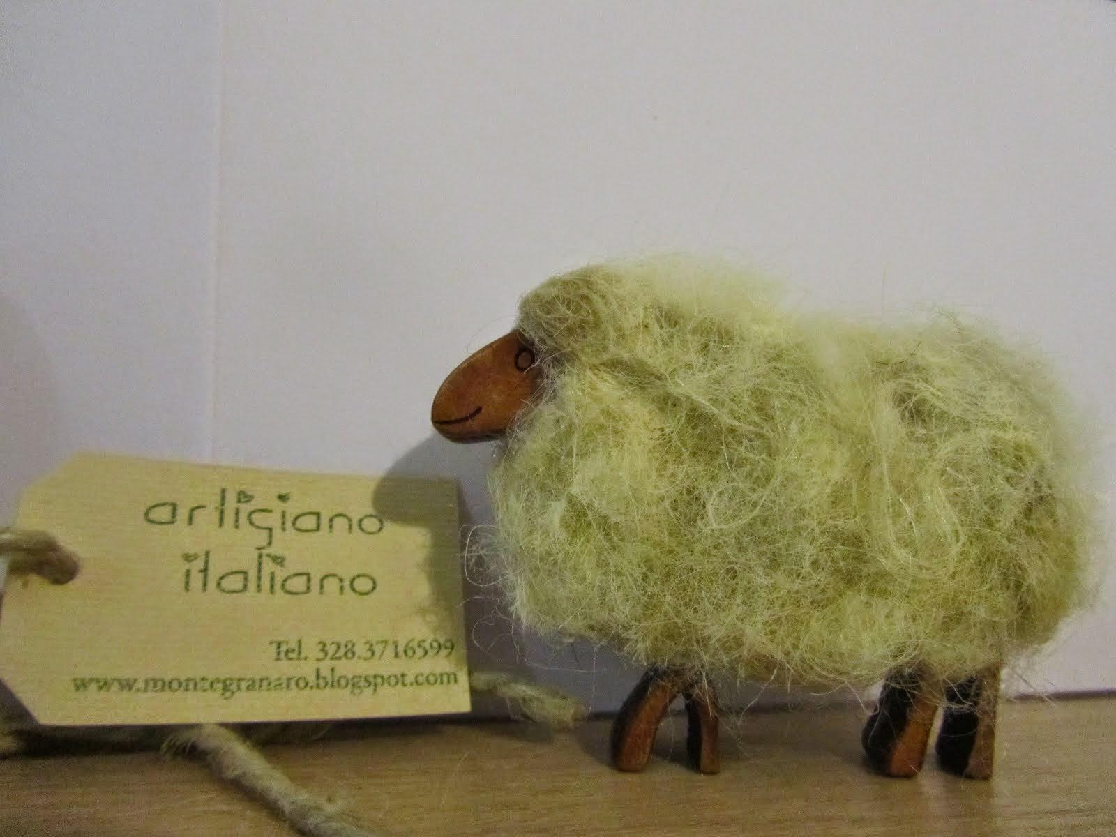 Pecorelle artigianali per presepe