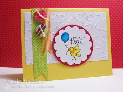 Card using digital stamp by Newton's Nook Designs