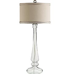 Glass Candlestick Buffet Lamp. I Love The Modern Elegance Of This Lamp. $125