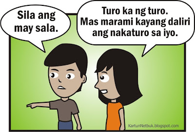 pointing fingers pinoy