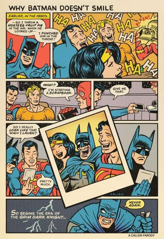 Por qué Batman nunca sonríe?