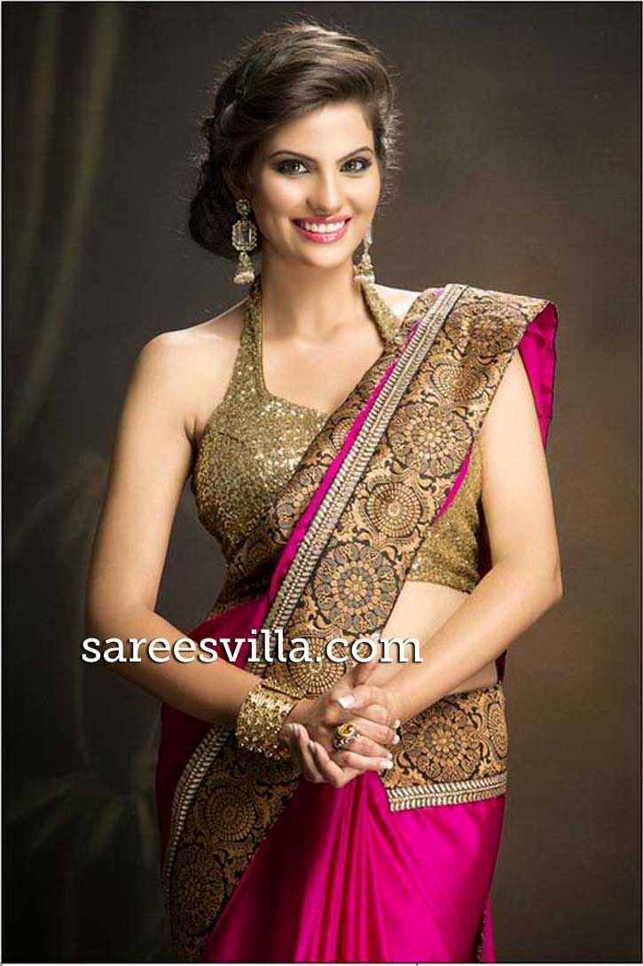 Halter neck saree blouse designs sarees villa