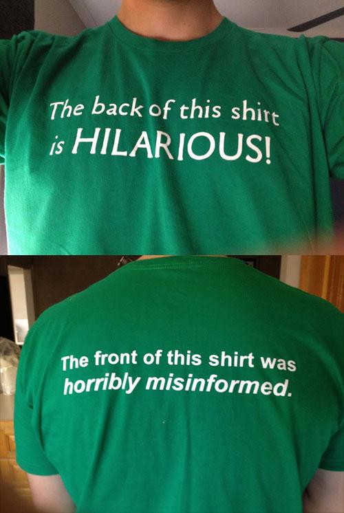Hilarious T-Shirt Trolling