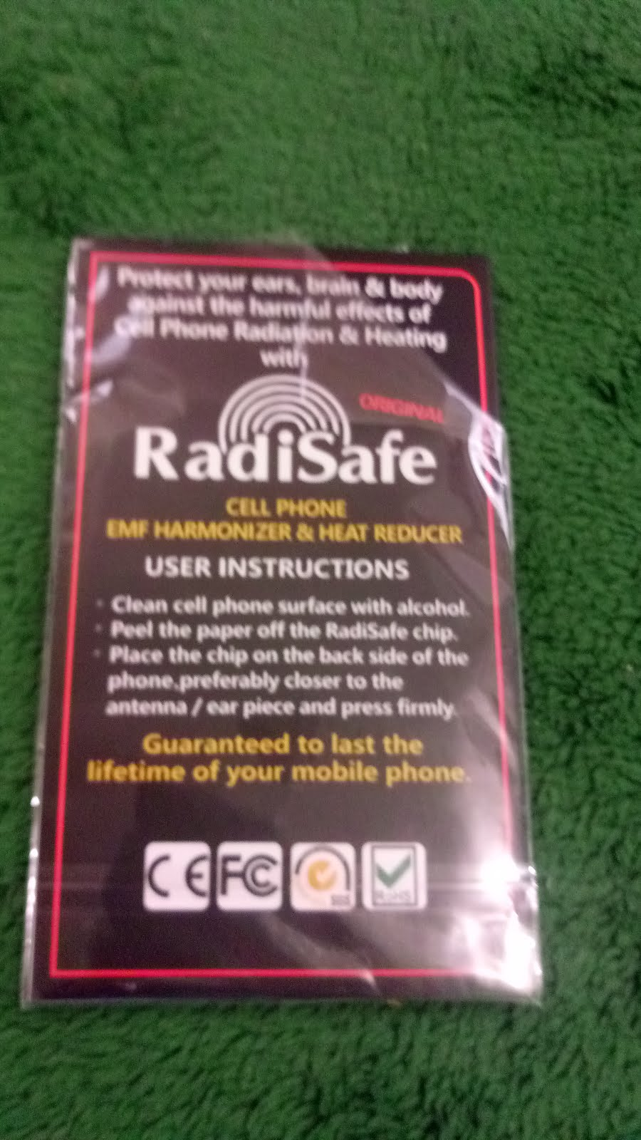Radisafe Versiontech Cell Phone Anti Radiation Protector Shield 12v Pocketsized Rechargeable Battery With Protection Circuit 2800ma Biological Effectiveness Scientifically Proven The Positive Effects Of This Emf Sticker Are Not Solely Measured Only On Physical Data