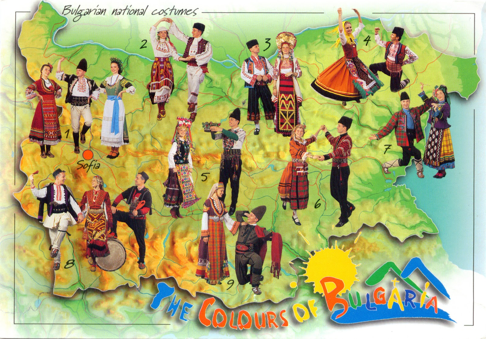 National Costume of Cuba http://worldcometomyhome.blogspot.com/2013/02/0504-bulgaria-map-and-traditional.html