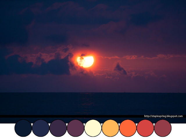 Colour palette sunset