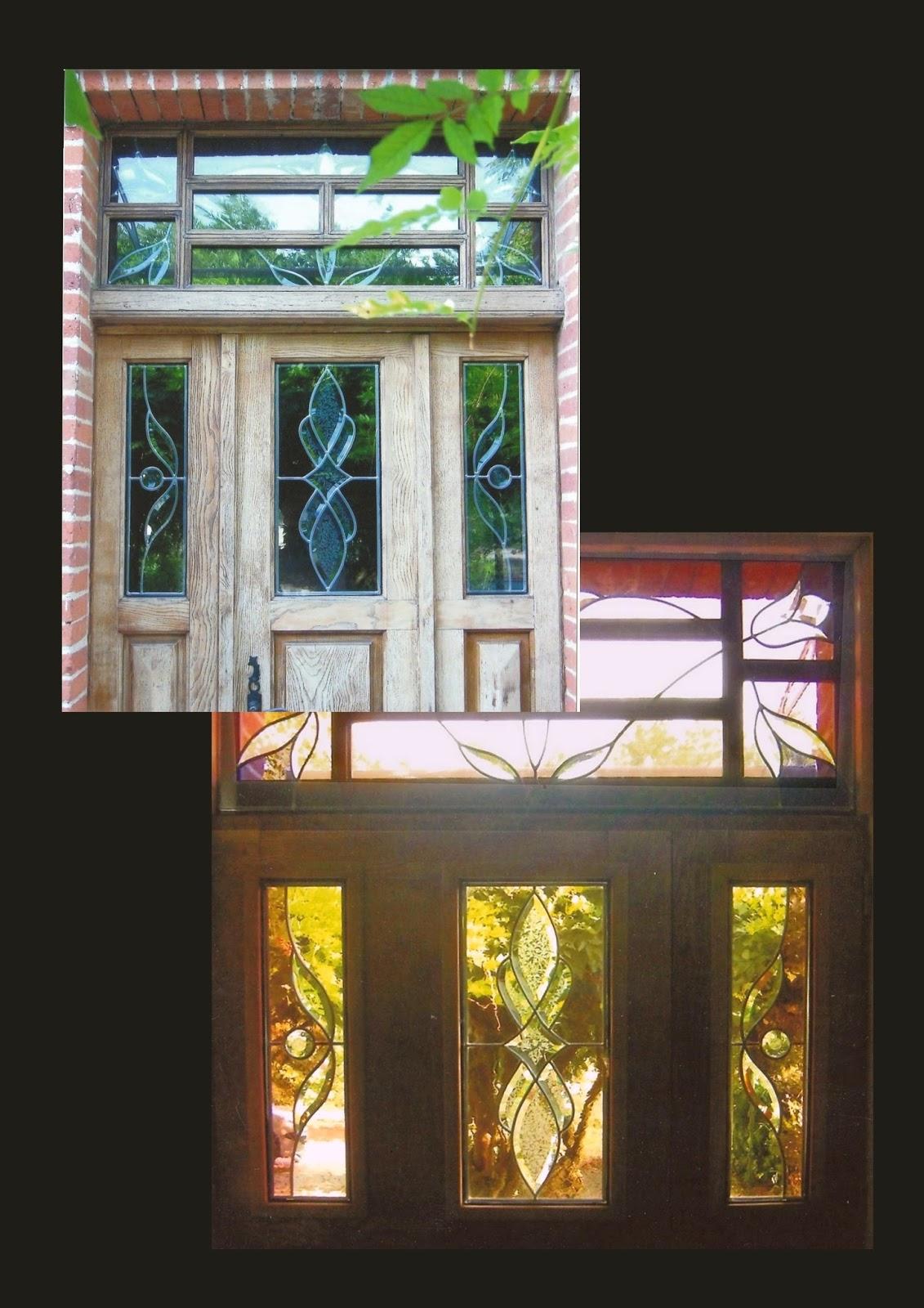 Atelier verrier de clermont vitrail verre fusionn stages vitrail porte d 39 entr e double vitrage - Porte d entree avec vitrail ...