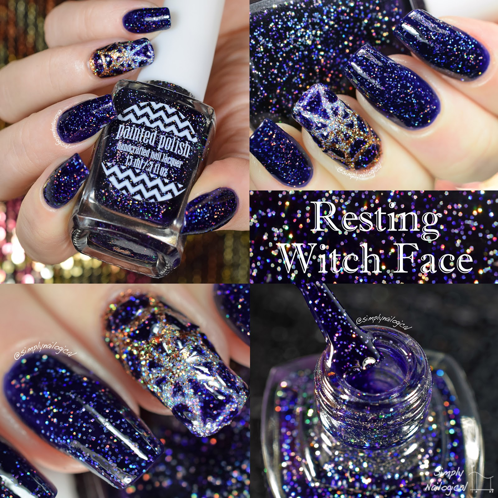 Painted Polish - Resting Witch Face