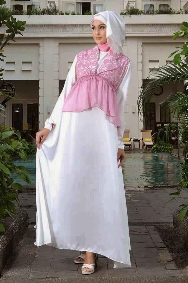 gaun pesta muslim dari bahan sifon