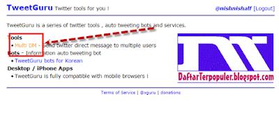 bagaimana cara mengirim pesan dengan akun twitter