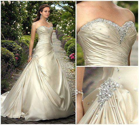 Light shinning grey wedding gown for ladies