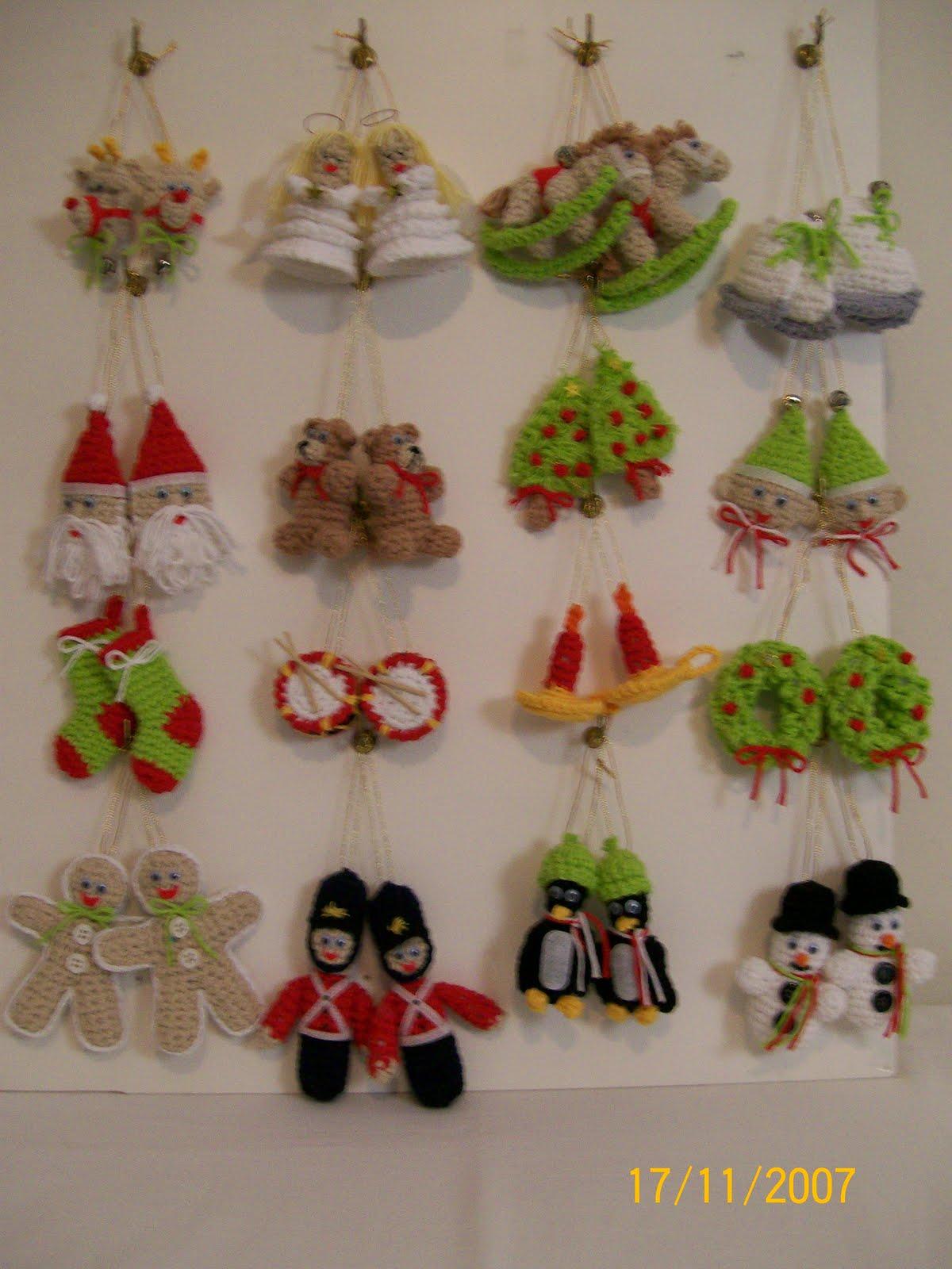 Crochet simple y delicado adornos para navidad - Adornos navidenos para el arbol ...