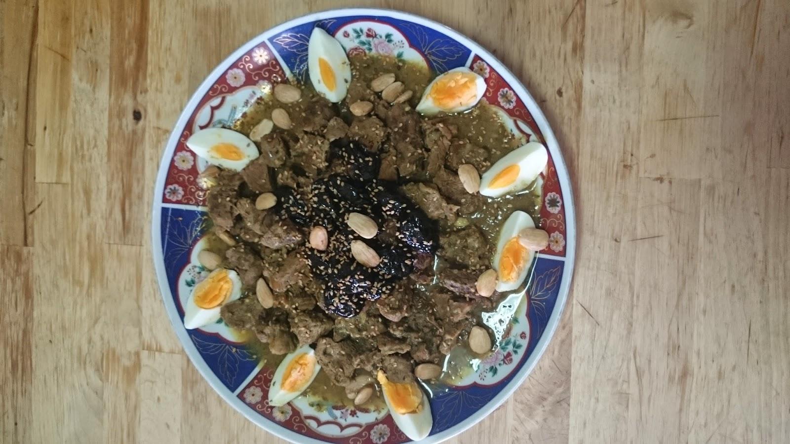 tajin de ternera con ciruelas pasas en slow cook (crock pot)