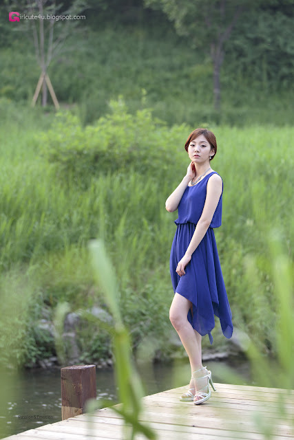 2 Chae Eun in Blue - very cute asian girl - girlcute4u.blogspot.com
