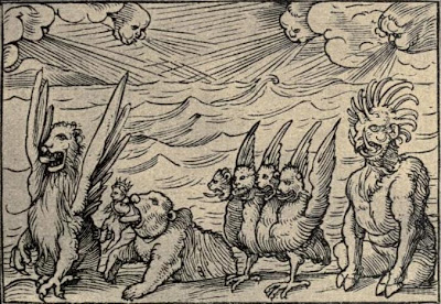 Daniel's vision of the four beasts