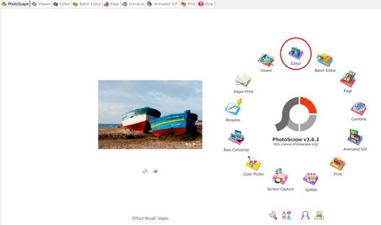 how photoscape looks on opening