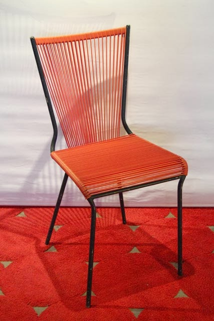 Chicbaazar objets vintage 50 60 70 chaise scoubidou - Chaise scoubidou vintage ...