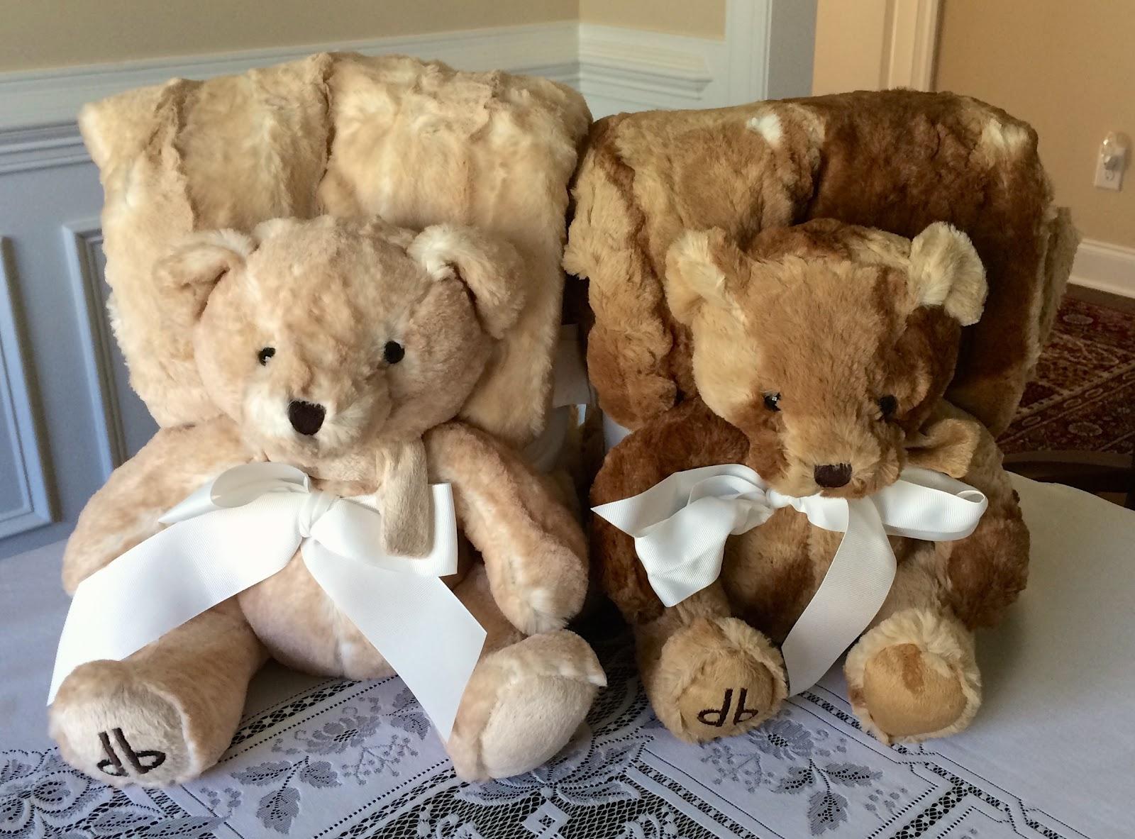 Blue apron qvc - Blue Skies For Me Please Dennis Basso Faux Fur Throw Teddy Bear Set Qvc Tsv