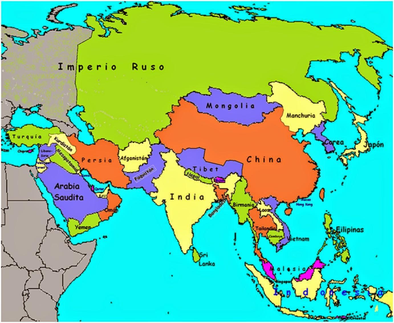 Mapa De Asia Pacifico