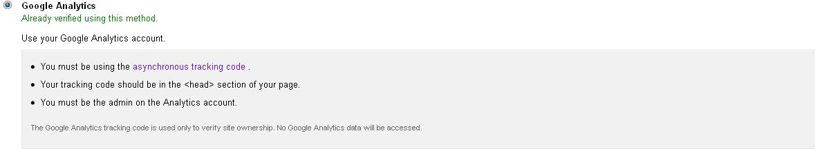 Image verifikasi blog di gwt metode google analytics