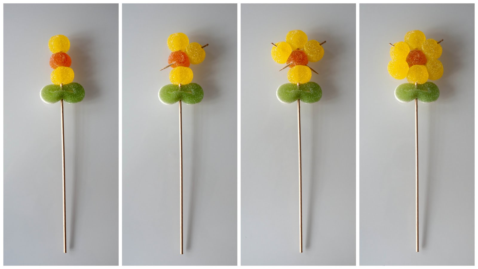 Cómo hacer flores de gominolas para una fiesta bonita
