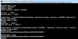 PHP - Python - hmac sha256 signature