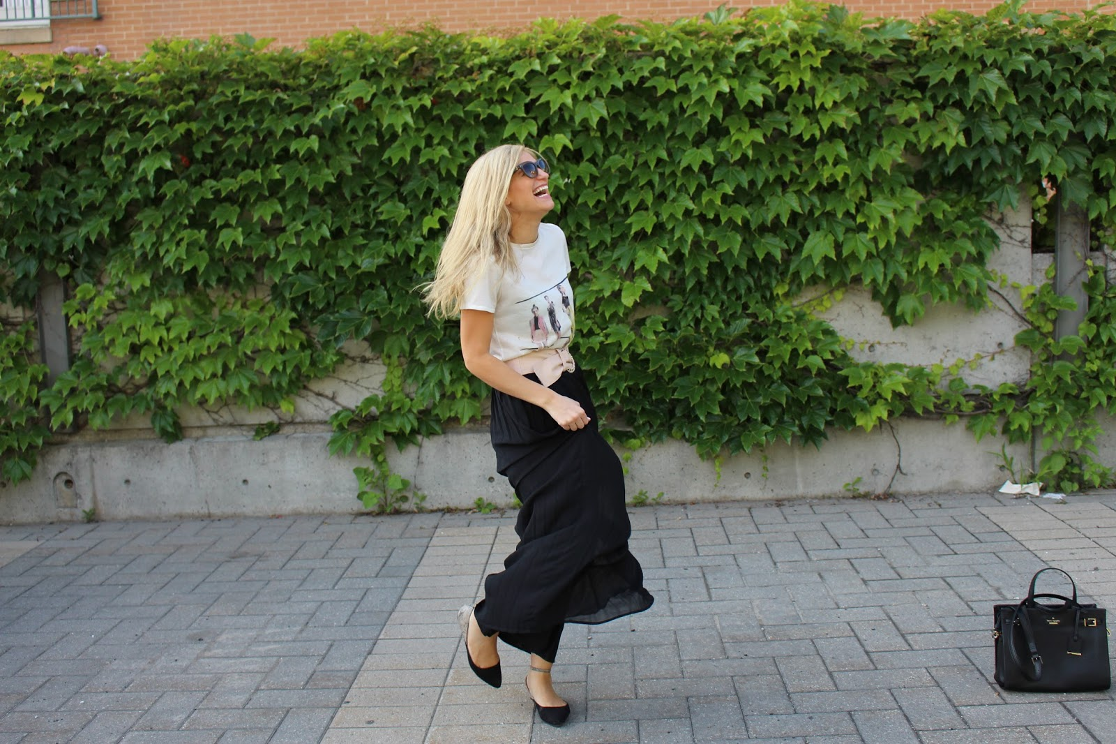 bijuleni - summer black maxi skirt